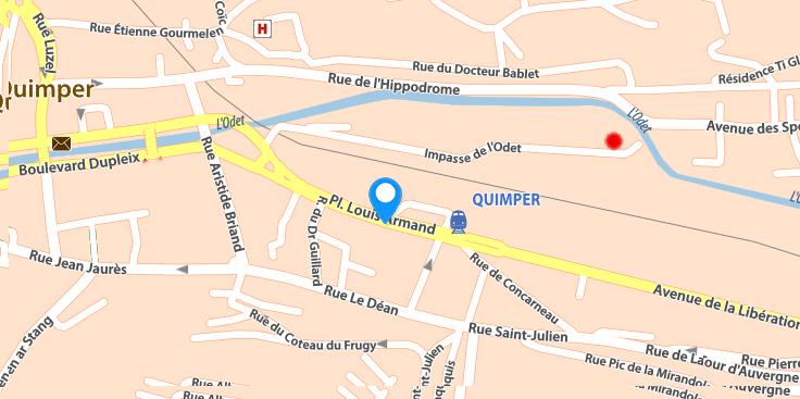 carte quimper
